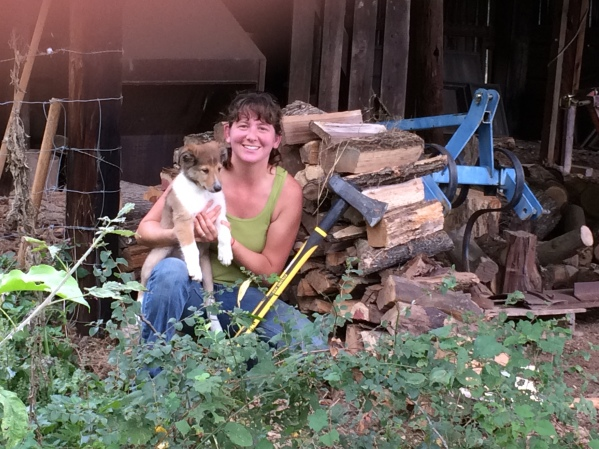 Momma, woodpile & Kep