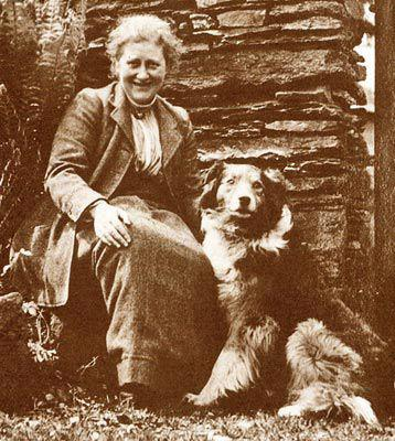 Beatrix Potter and her companion, Kep